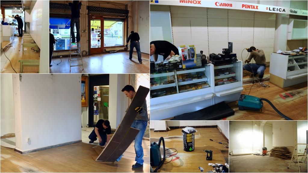 Die ersten Arbeiten begannen im Januar 2014
