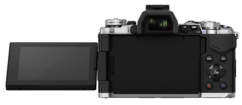 Ein ausklappbarer Touchscreen ermöglicht Aufnahmen aus anderen Perspektiven