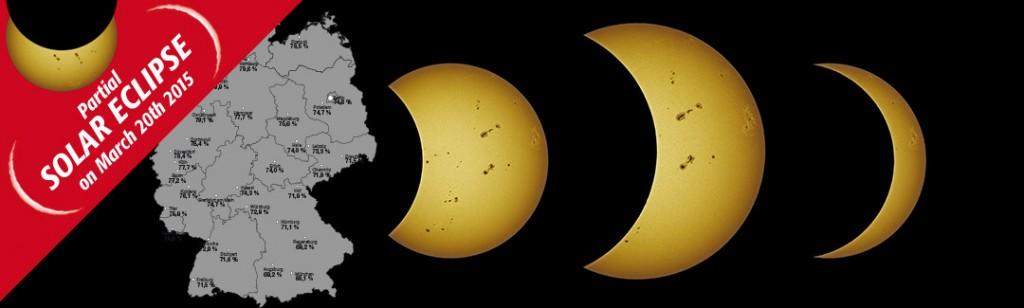 Die partielle Sonnenfinsternis am 20.März hier in Deutschland