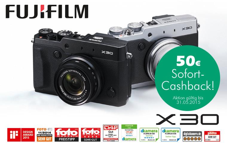 Fujifilm X30 Sofort-Cashback