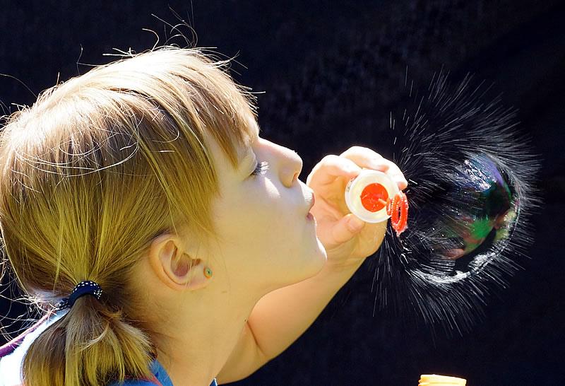 KinderfotoSeifenblase