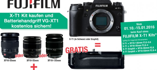 Fujifilm X-T10 Cashback und X-T1 Gratiszugabe