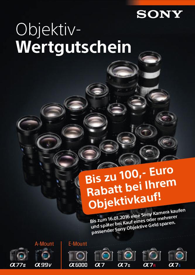 Sony Objektiv-Wertgutscheine
