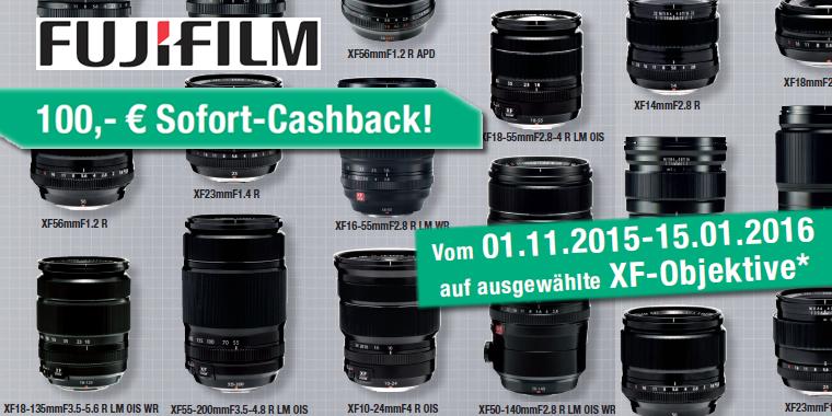 Fujifilm Cashback für Objektive