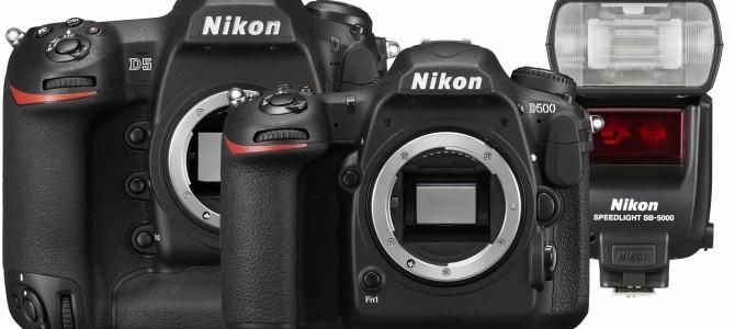 NEU: Nikon D5, Nikon D500 und Nikon SB-5000