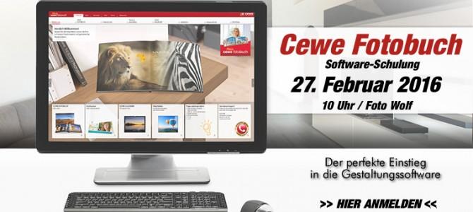 Cewe Fotobuch Software-Schulung