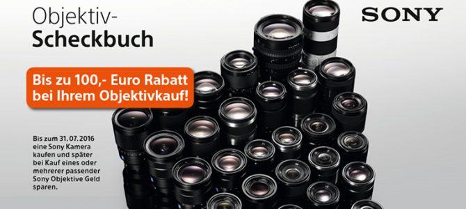 Sony Objektiv-Aktion – bis zu 100 Euro sparen