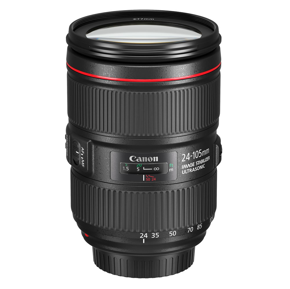 Canon_EF 24-105mm f4L IS II USM Slant with cap