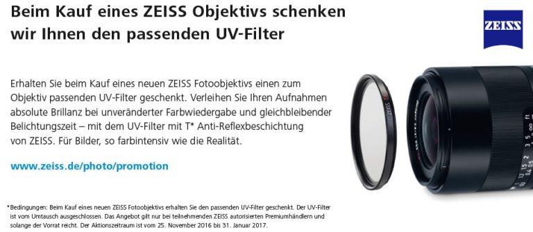 Zeiss Objektiv kaufen – Filter gratis erhalten