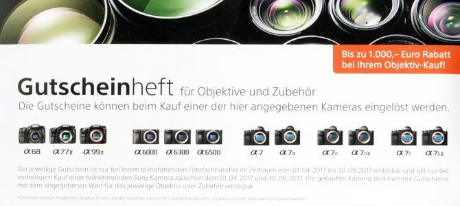 Sony Objektivgutschein Aktion