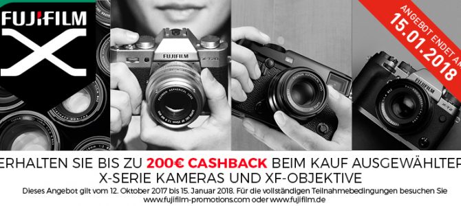 Fujifilm Winter-Cashback-Aktion