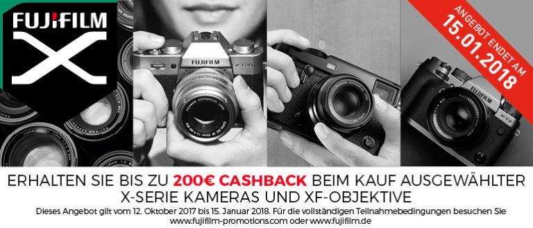 Fujifilm Winter-Cashback-Aktion