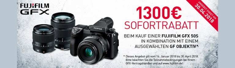 Fujifilm GFX Aktion mit 1300Euro Sofortrabatt