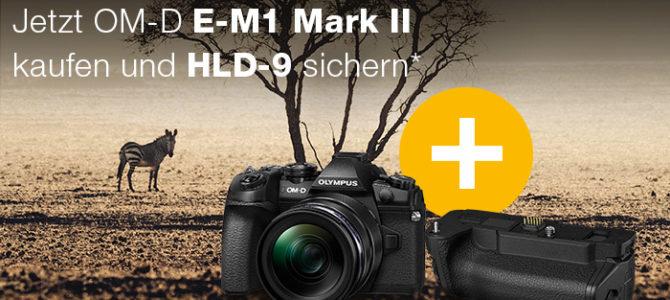 Olympus E-M1 Mark II kaufen – Gratis HLD-9 Griff sichern!