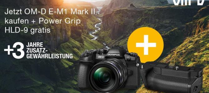 Olympus E-M1 Mark II kaufen – HLD-9 + Zusatzgewährleistung sichern!