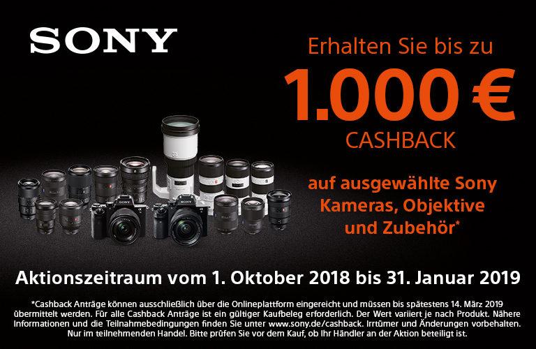 Sony Cashback – bis zu 1000 Euro sparen