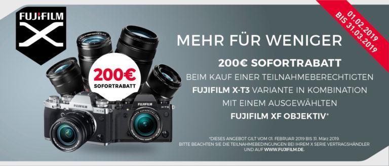 Fujifilm X-T3 Sofortrabatt sichern!