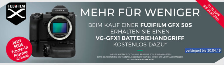 Fujifilm GFX 50S Aktionen