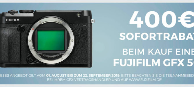 Fujifilm GFX-Aktionen