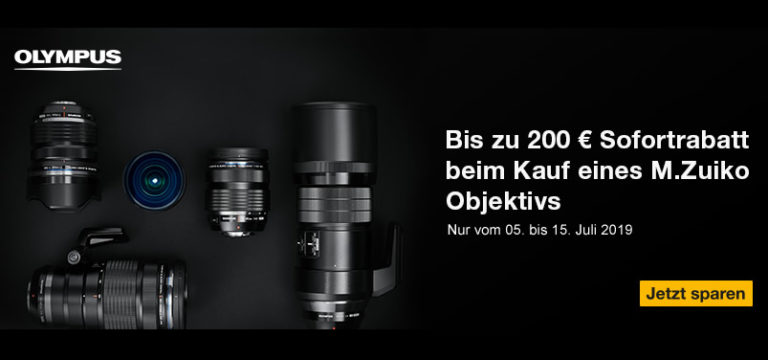 Olympus Objektiv-Promotion