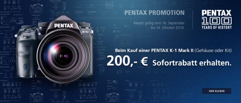 Pentax K-1 II – 200€ Sofortrabatt sichern