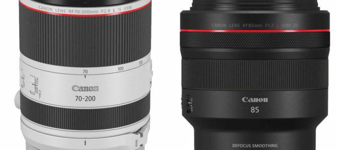 Canon RF 70-200mm und RF 85mm vorgestellt