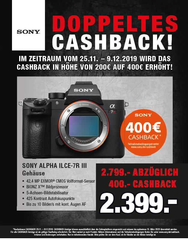Sony Alpha 7R III – 400 Euro Cashback