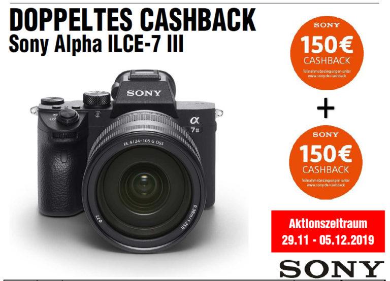 Sony Alpha 7 III – doppeltes Cashback zur Black Week