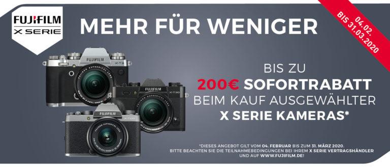Fujifilm Sofortrabatt bis 31.03.2020