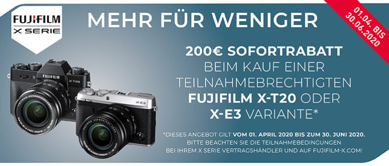 Fujifilm – 200€ Sofortrabatt sichern