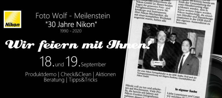 30 Jahre Nikon bei Foto Wolf
