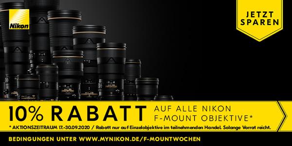 Nikon F-Mount 10% Rabatt