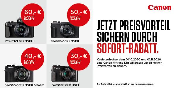 Canon PowerShot G Sofortrabatt