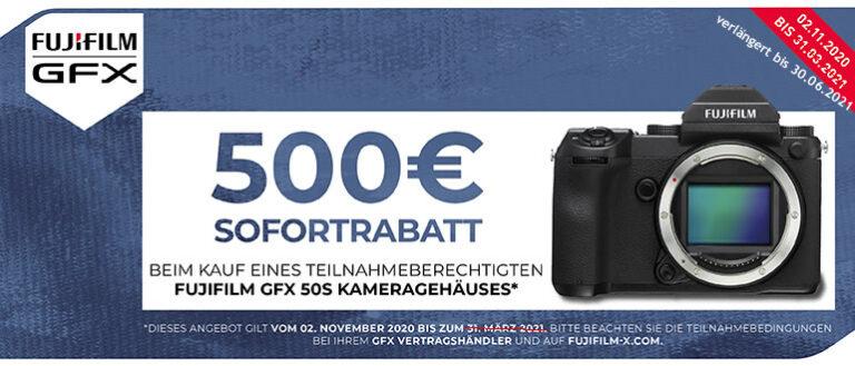 Fujifilm GFX 50S Sofortrabatt-Aktion