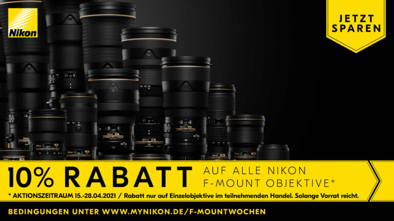 Nikon F-Mount 10% Rabattwochen