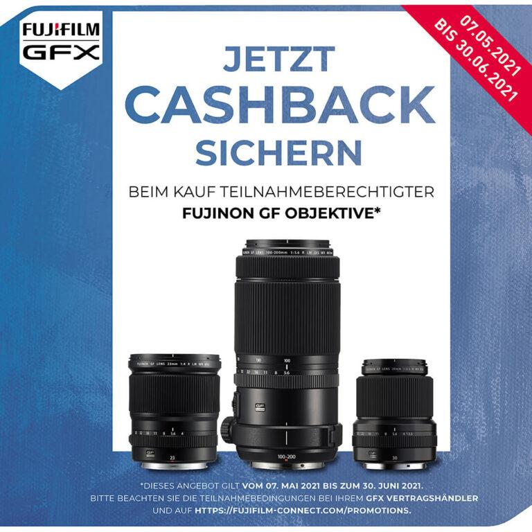 Fujifilm GF Objektiv Cashback