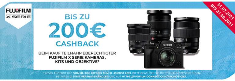 Fujifilm X-T4 & XF Objektiv Cashback Aktion