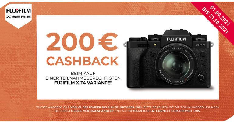 Fujifilm X-T4 Cashback Aktion