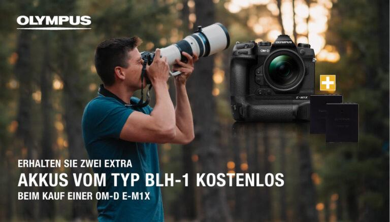 Olympus E-M1X kaufen und 2x BLH-1 Akku GRATIS erhalten