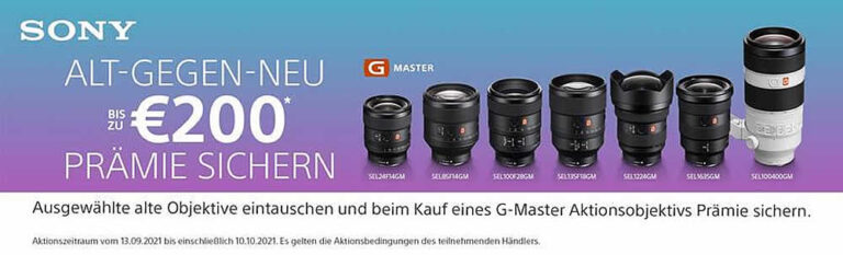Sony GMaster – TradeIn Bonusaktion